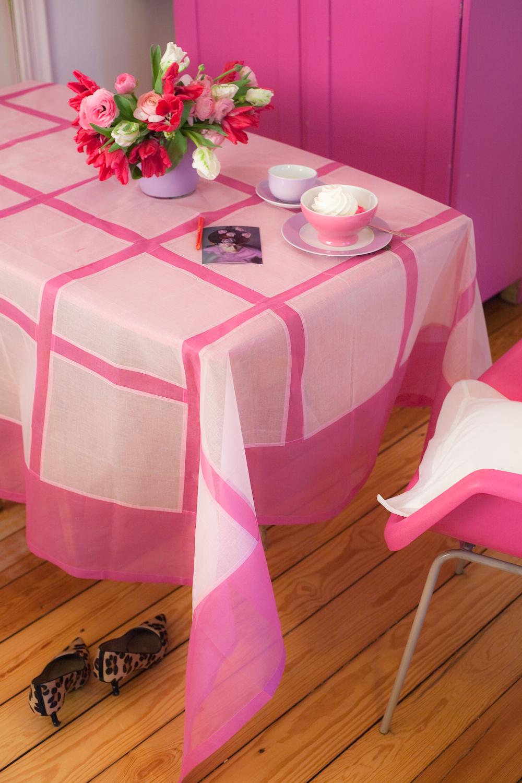 Rosa Pinke Tischdecke