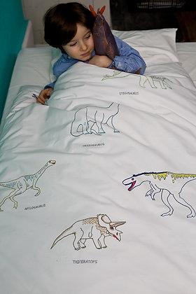 Kinderbettwäsche mit Dinosauriern groß