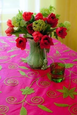 Pinke Tulpen und Pinke Aritischdeck