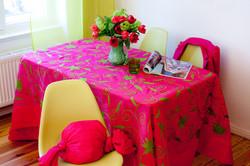 Tischdecke Ari Grün Pink