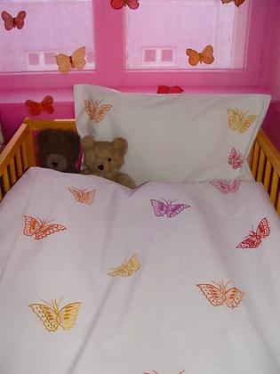 Bettwäsche gest. Schmetterlinge fürs Kleinkind