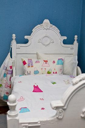 Bettwäsche mit applizierter Mode fürs Schulkind