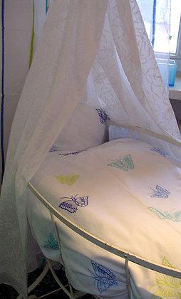 Bettwäsche gest. blau Schmetterlinge fürs Baby
