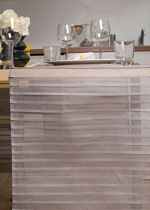 Tischläufer mit Biesen Grau