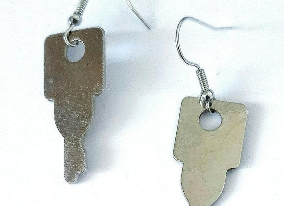 Vintage Key Upcycled Earrings