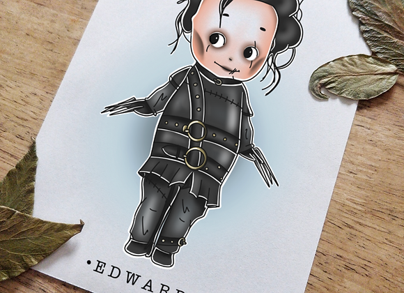A5 Kewpie Edward Scissorhands Print
