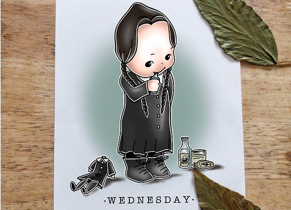 A5 Kewpie Wednesday Addams
