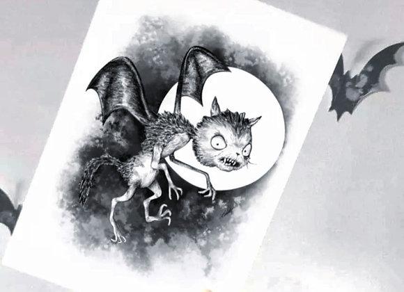 A5 Vampire Bat Print