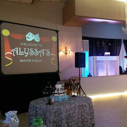 Full set up for quince at Cuban civic club