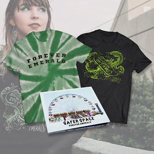 Safer Space Tee + In Waves Tee + CD Bundle