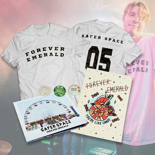 Safer Space Tee + CD + Print Bundle