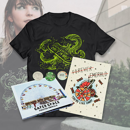 In Waves Tee + CD + Print Bundle