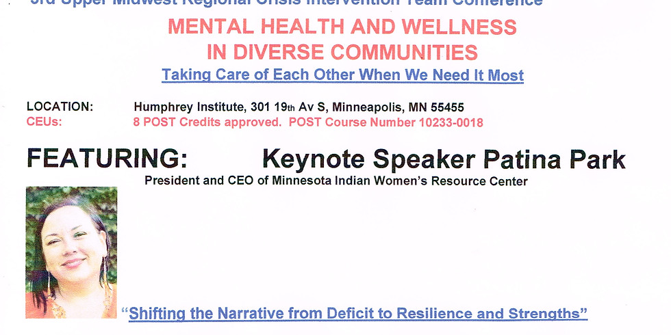 3rd Upper Midwest Regional CIT Conference: Mental Health and Wellness in Diverse Communities