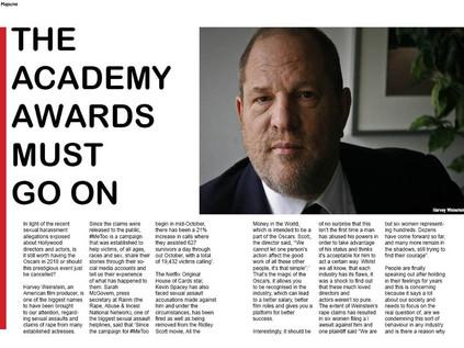 The Academy Awards Must Go On