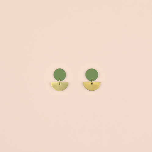Green Small Brass Drops