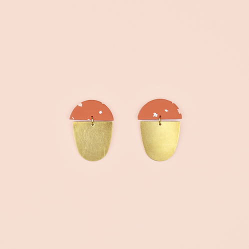 Red & White Brass Drops