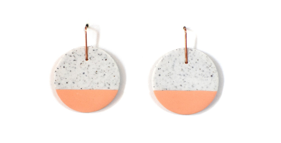 Peach & White Speckled Drops