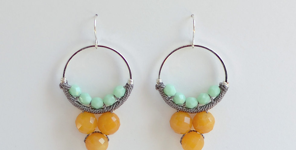 YELLOW JADE & MINT CIRCLES