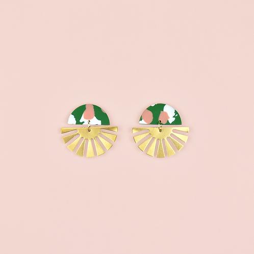 Green, Pink & White Sunbursts