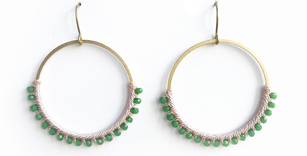 Green and Pink Brass Circles