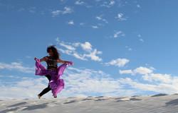 Deb-running-on-White Sands