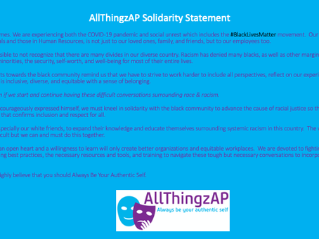 AllThingzAP Solidarity Statement