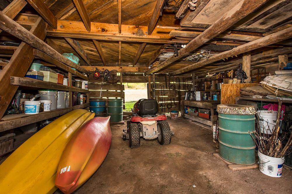 the barn first floor.