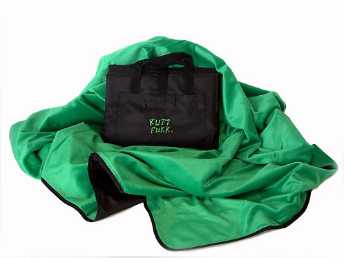 GREEN - Butt Furr Microfurr Waterproof Blanket