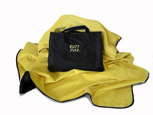 YELLOW - Butt Furr Microfurr Waterproof Blanket