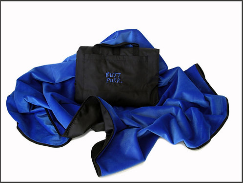 BLUE - Butt Furr Microfurr Waterproof Blanket
