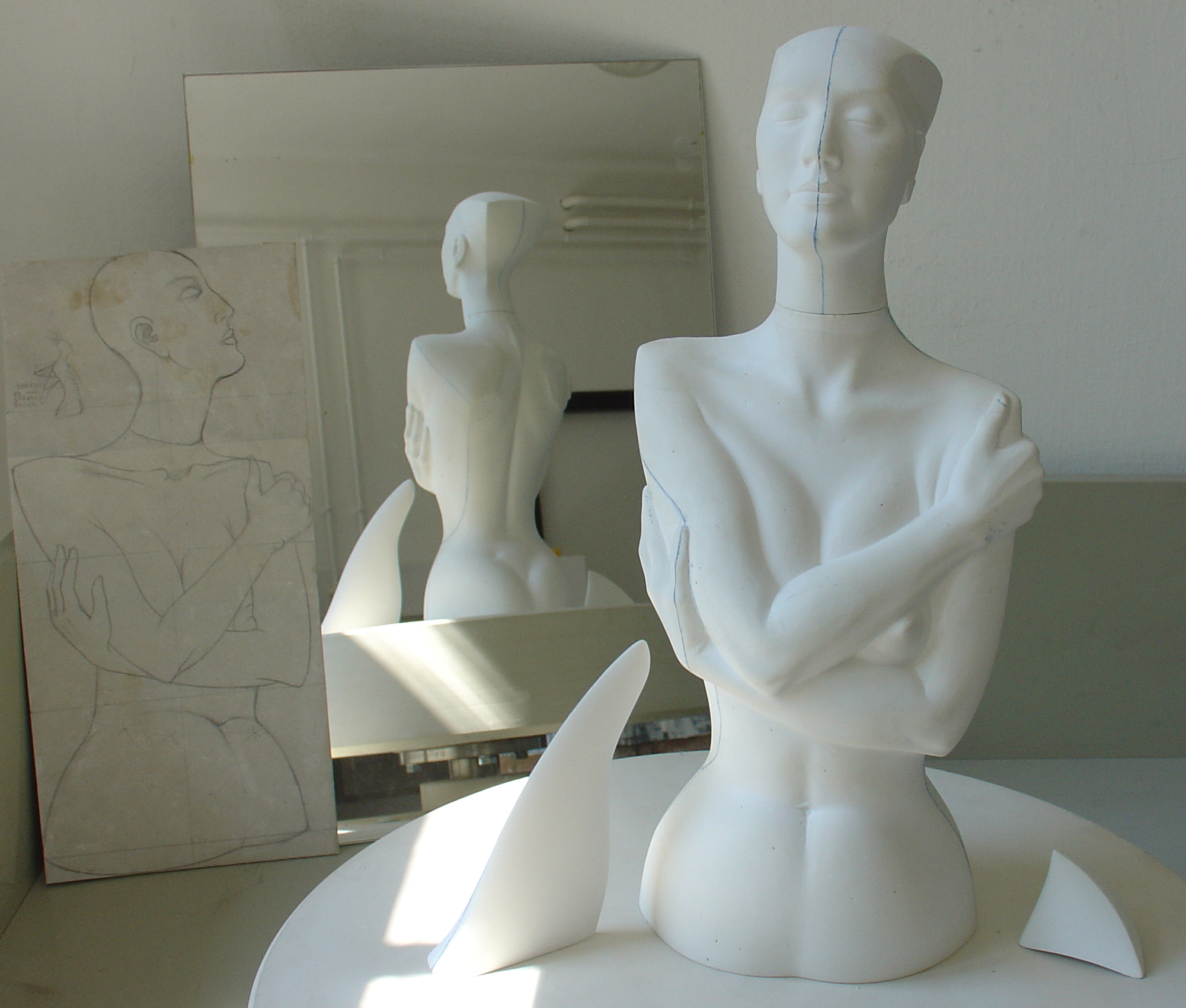 076. plaster models (2005)