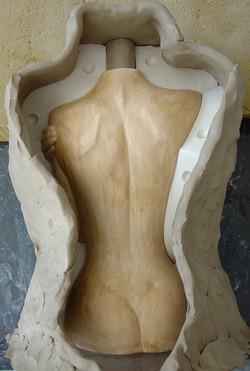 077. plaster mould making (2005)