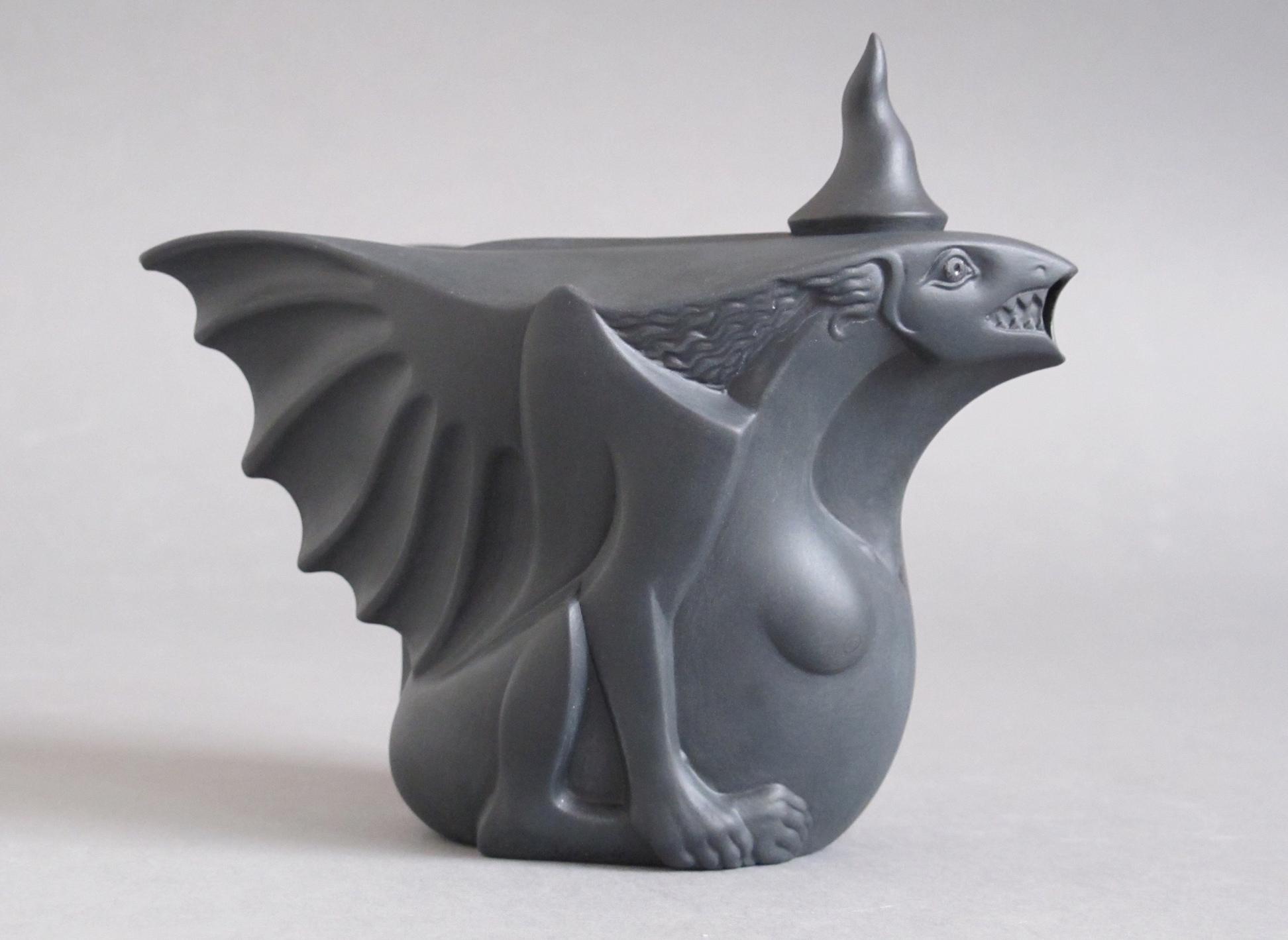 _Pregnant Dragon-Lady_- teapot