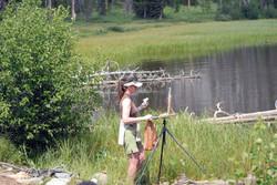 Shirl painting Kersey Lake