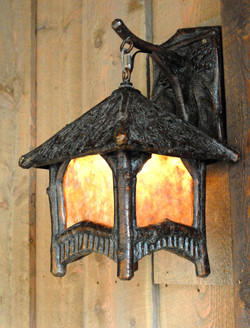 Pine Bark Sconce - in bronze