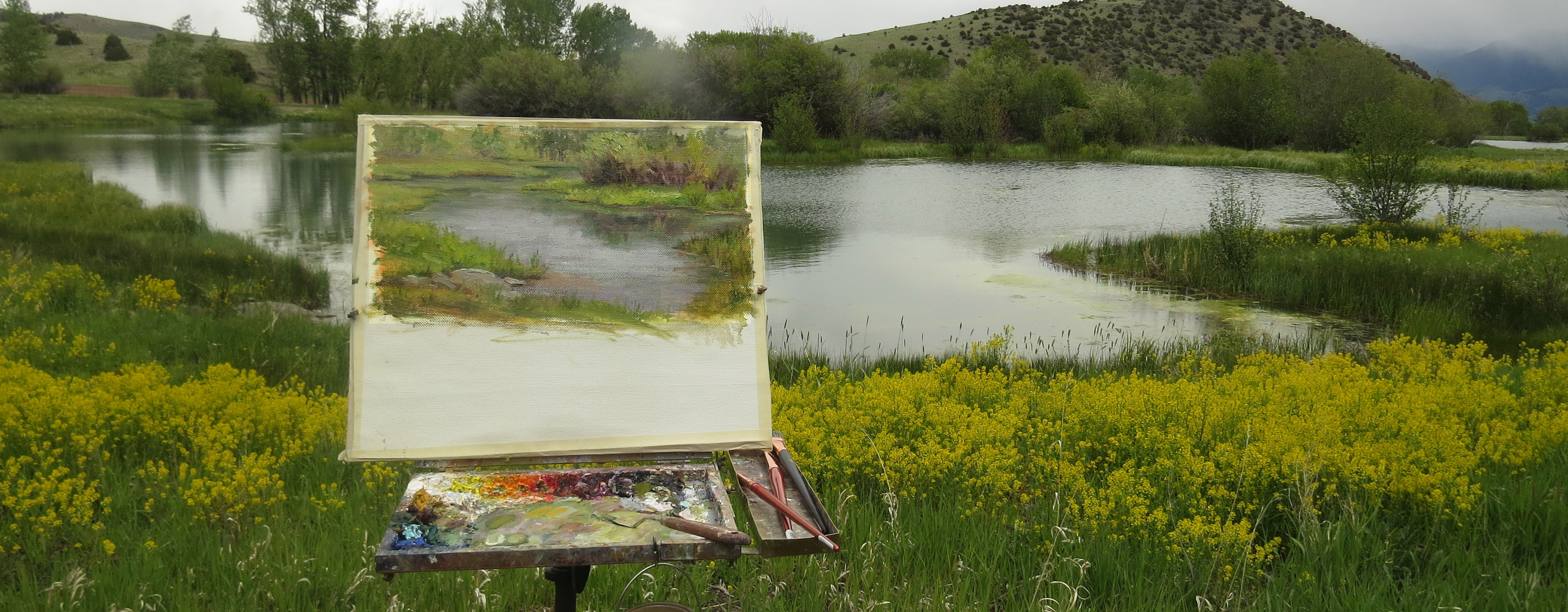 Painting on a private ranch