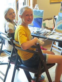 Fourth Grade art students