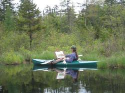 Shirl painting in the Adirondacks