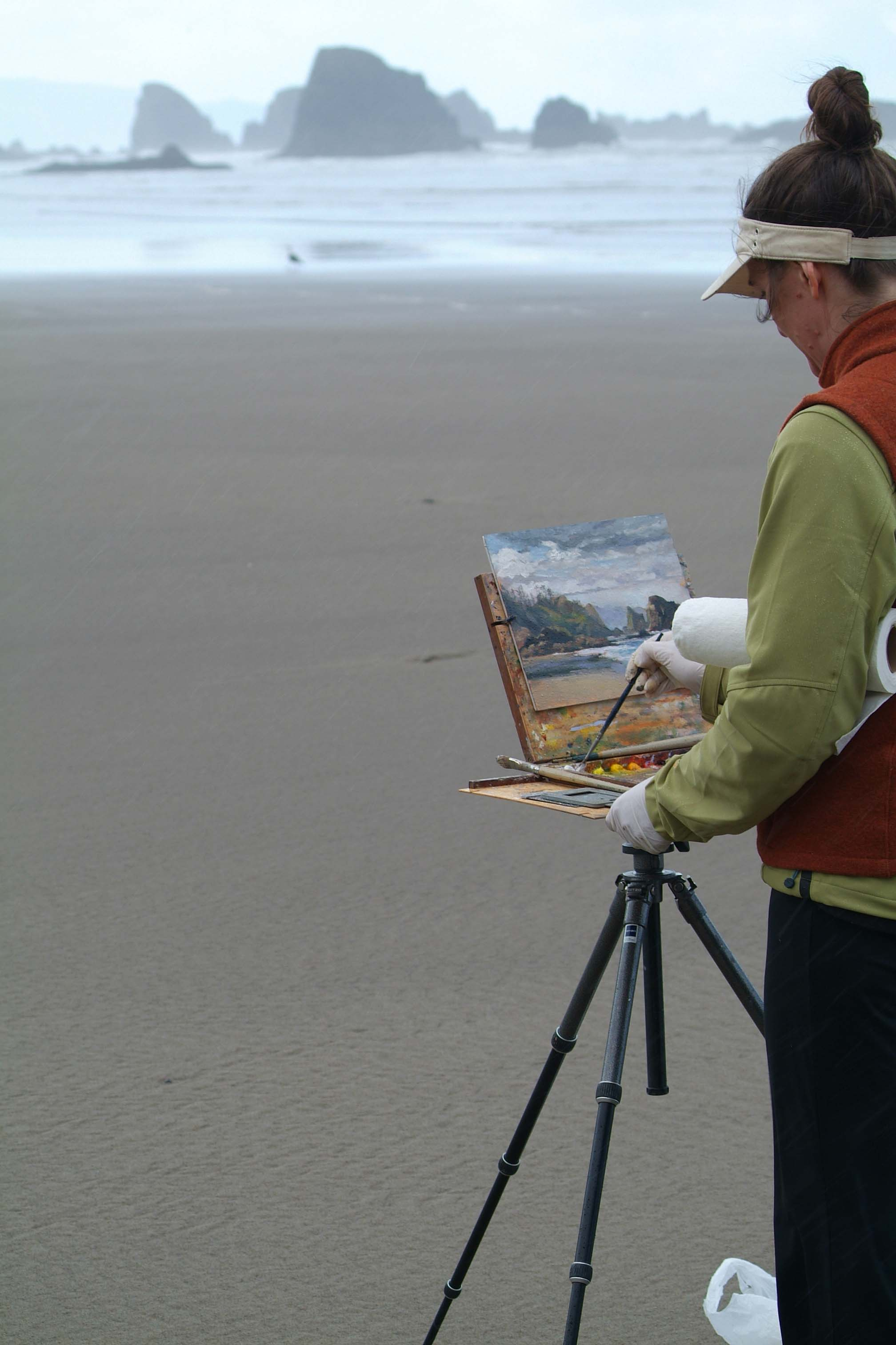 Shirl painting Canon Beach