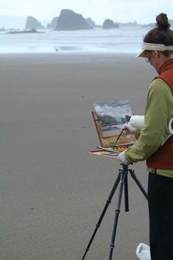 Shirl painting Canon Beach