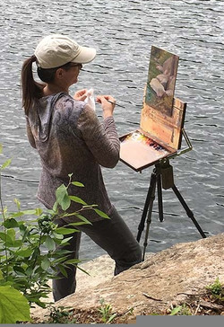Plein air painting in the Adirondack