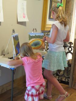 Student Art Show preparation