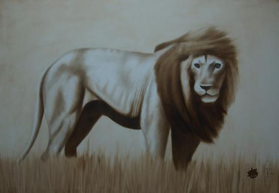 Le lion dépeigné