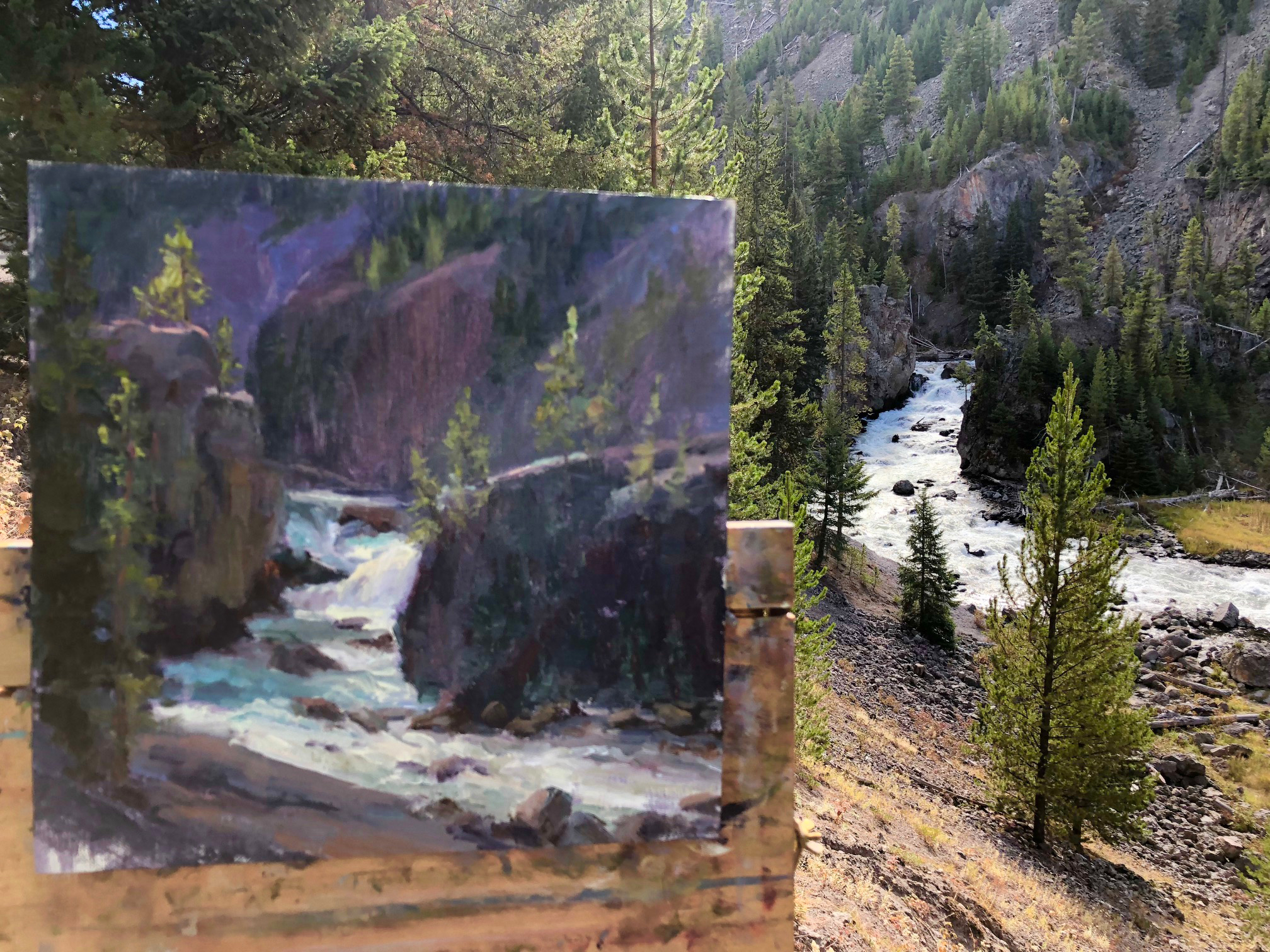 Firehole Canyon plein air IMG_3095