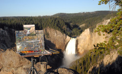Painting at Lower Falls Lookout