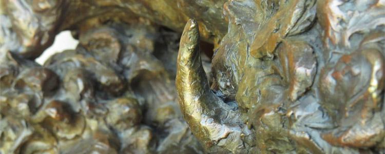 Bronze detail of Prairie Storm