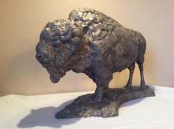 Beast - bison in bronze