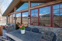 Yellowstone National Park reflected in the windows at the Nest