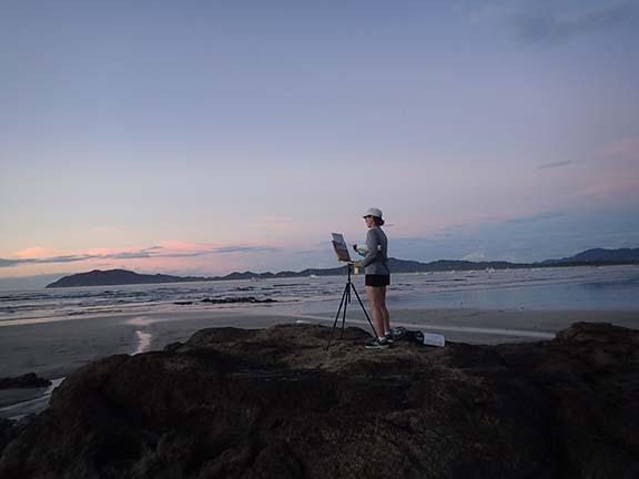 Costa Rica plein air painting