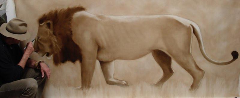 Lion taille réelle